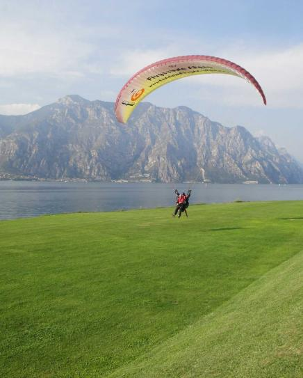 Landing zone close to Malcesine