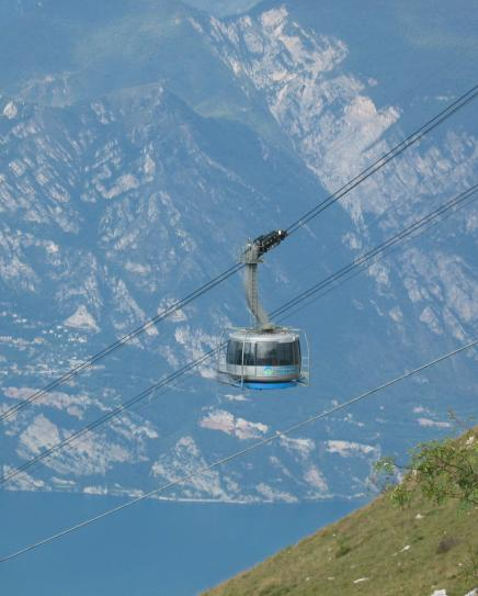 Cable car up to Monte Baldo
