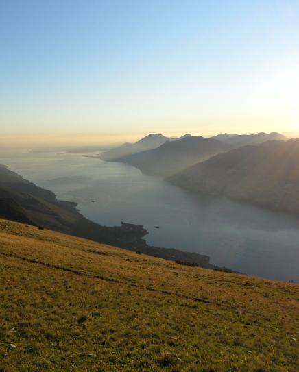 View from Monte Baldo at sunset time